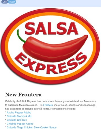 Frontera Sale Through Sunday