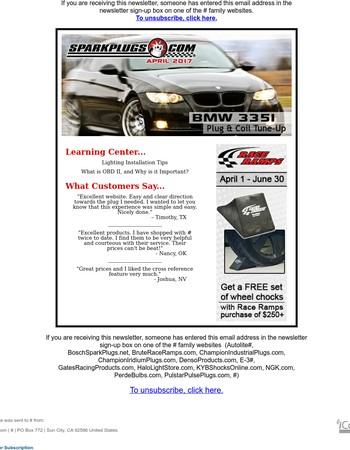 April Newsletter - BMW 335i Plug & Coil Tune-Up