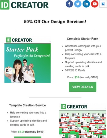 50% Off Design Services all March long!