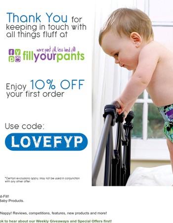 Your 10% Discount Code