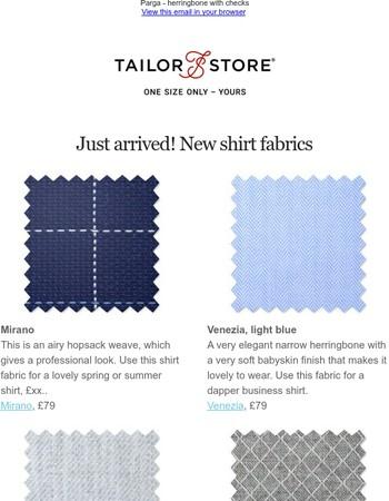 New shirt fabrics! Go dapper, trendy or casual