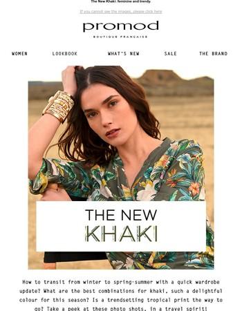 Khaki, the spring-summer colour