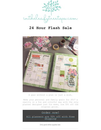 Flash Sale! 50% off for 24 hours.