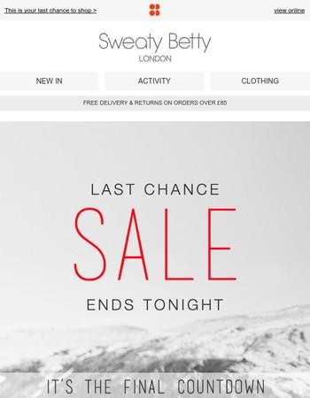 Last chance sale ends TONIGHT