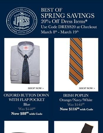 Best of Spring Savings: 20% Off Dress Items
