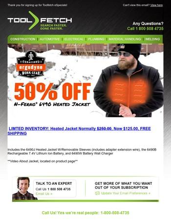 ITS BACK! Ergodyne Heated Jackets 50% OFF, Free Shipping (STOCK LIMITED)