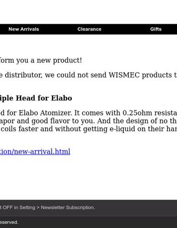 WISMEC NS Triple Head for Elabo