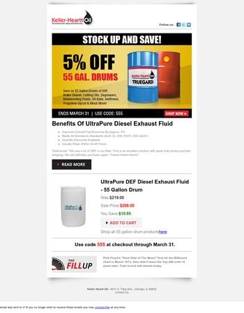 Bulk Lubricant Savings - 5% Off All 55 Gallon Drums!