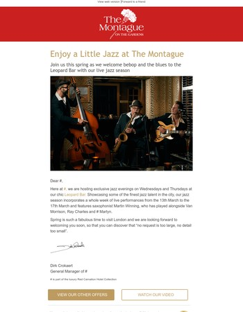 Mary, Enjoy a Little Jazz at The Montague