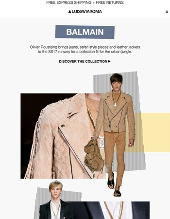 Men's Balmain SS17: Escape to the jungle