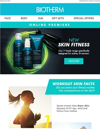 NEW Skin Fitness! Enhance the benefits of your workout!