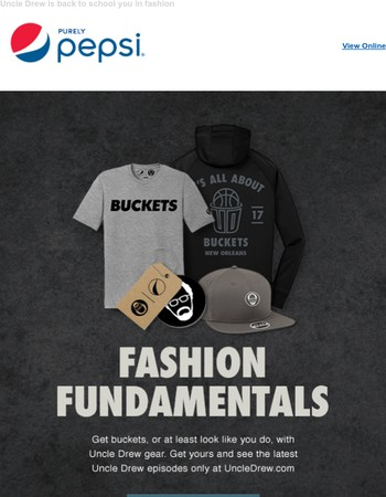 Gear up at UncleDrew.com