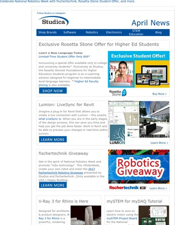 Studica News: April Edition