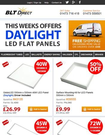 RE:Daylight LED Flat Panels - BLT Direct