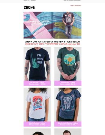 Choke Shirt Company Newsletter