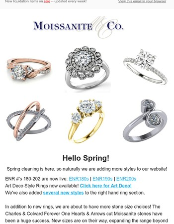 MoissaniteCo April Newsletter