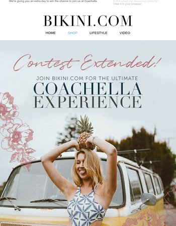 Contest Extended! Experience Coachella with Bikini.com