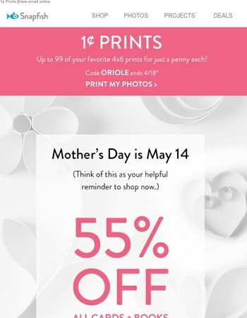 Save up to 65%! Make Mom her favorites. From you, her favorite