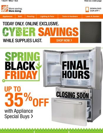 Expires Tonight: Spring Black Friday Appliance Savings