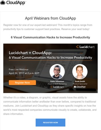 April Webinars from CloudApp