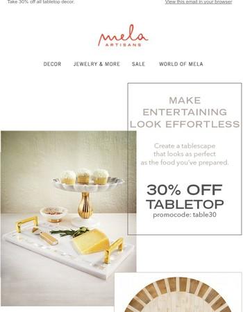 Hop to it! Shop our Tabletop sale.