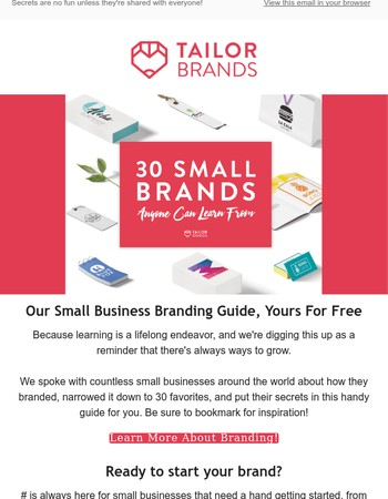 Small Business Branding Guide - Free For You!