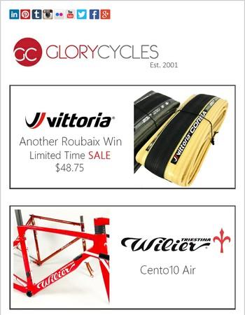 Roubaix Winning Tires, Wilier Cento10 Air Framesets