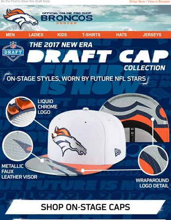 JUST IN: Broncos 2017 Draft Headwear