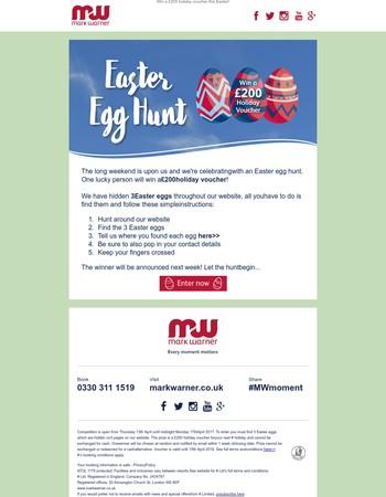 Easter Egg Hunt- win a £200 voucher!