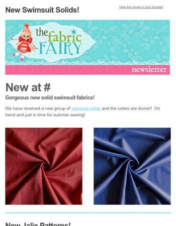 New Solid Swimsuit Fabrics!
