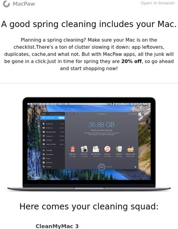Spring cleaning time! Is your Mac on the checklist?