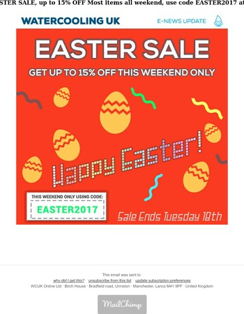 Watercooling UK - EASTER 15% OFF SALE
