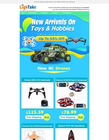 Dear  New And Hot   Up To 63% Off   New Arrivals On Toys & Hobbies