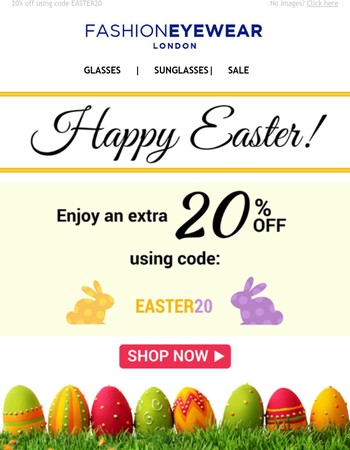 Enjoy an egg-celent discount this Easter!