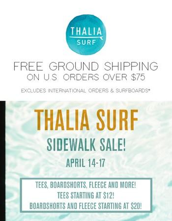 Sidewalk Sale! Starting today at Thalia Surf Shop