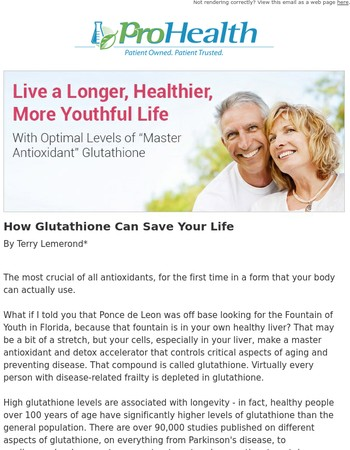 How Glutathione Can Save Your Life