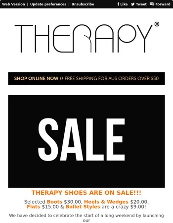 Therapy Shoes - SALE!