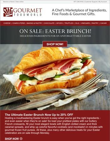 Hop to it! Easter Brunch Sale Ends Monday