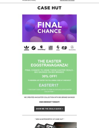 FINAL CHANCE for Easter Deals - Easter Treat Inside! ENDS TONIGHT!