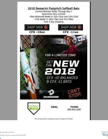 2018 Demarini CFX Fastpitch Bat Limited Release @ HQ4SPORTS