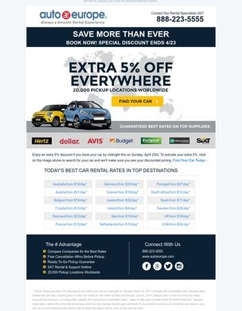 Save an Extra 5% Everywhere