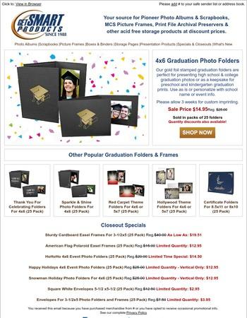 Save on Graduation Event Photo Folders