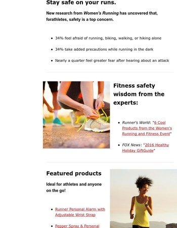 20% off running & on-the-go safety