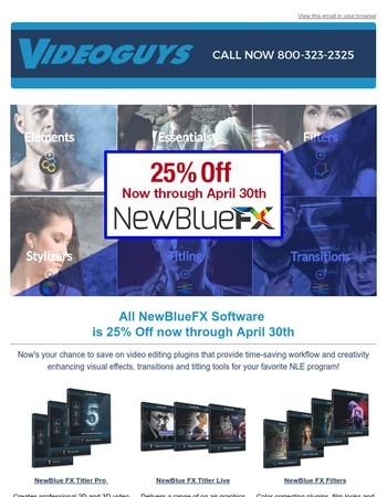 NewBlueFX Software Sale Now through April 30th