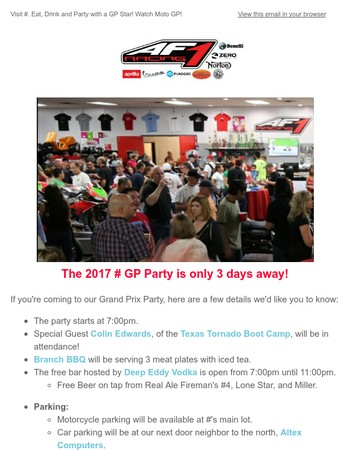 5th Annual GP Party Event Details