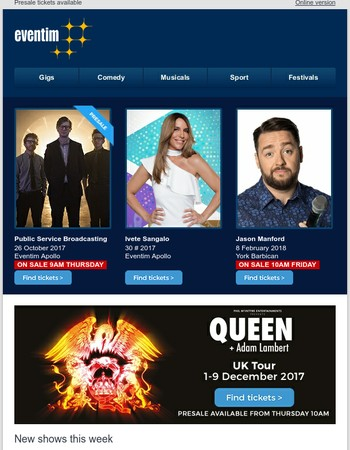 Queen + Adam Lambert, Public Service Broadcasting, Ivete Sangalo, Jason Manford and loads more...