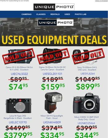 Last Chance - April Used Equipment Deals
