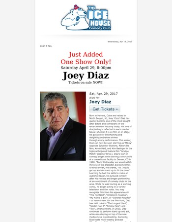 Joey Diaz - Just Added