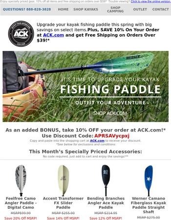 Upgrade Your Kayak Fishing Paddle This Spring + Big Savings on Select Items