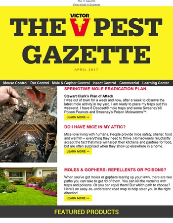 Springtime Mole Eradication Plan